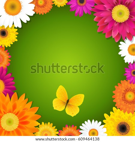 flower and butterfly with