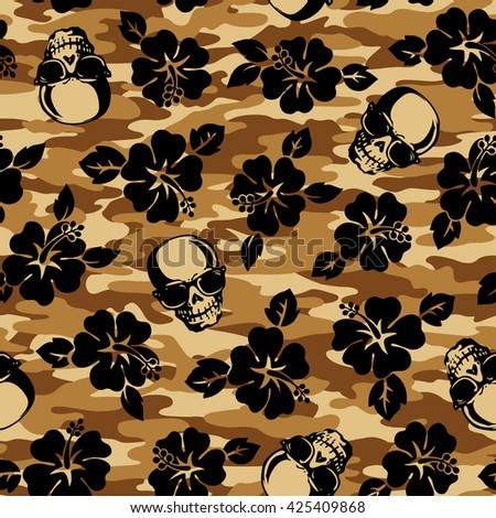 flower and skull camouflage