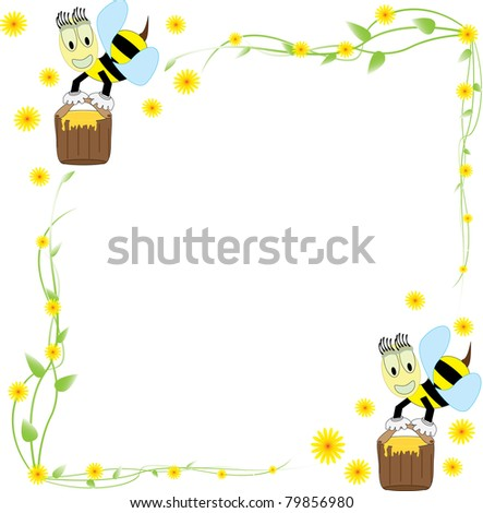 flower arrangements  and bees