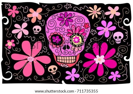 flower background cartoon