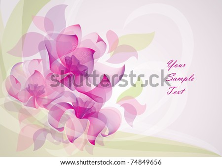 stock vector flower background vector 10 EPS Can be used for invitations