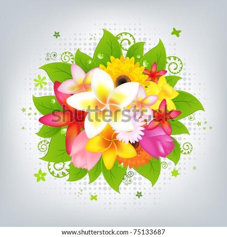 Flower Background, Vector Illustration