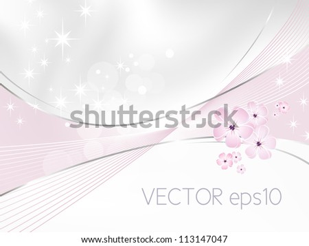Flower background - white and pink floral design