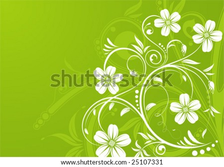 Flower background with bud, element for design, vector illustration
