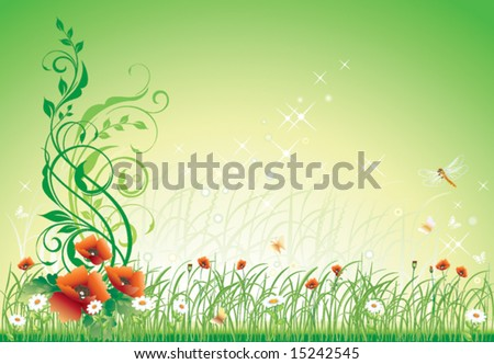 Flower background with delicate colors