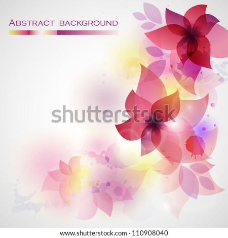 Flower background with orchid. Card for mothers day.