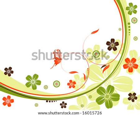 flower background pictures. vector : Flower background