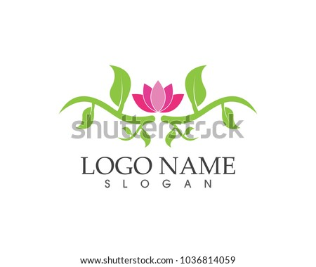 Flower beauty icon sign logo
