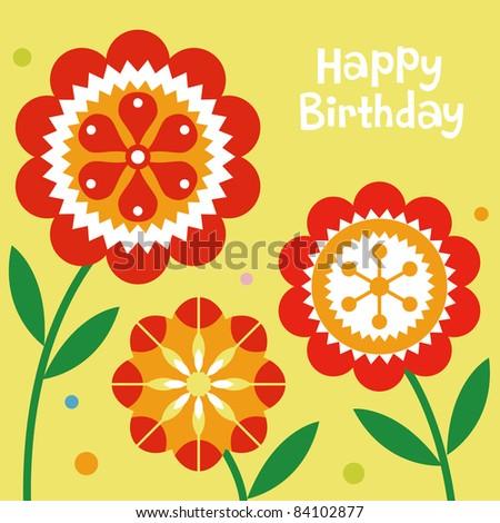 Flower Designs For Cards Flower Birthday Card Design