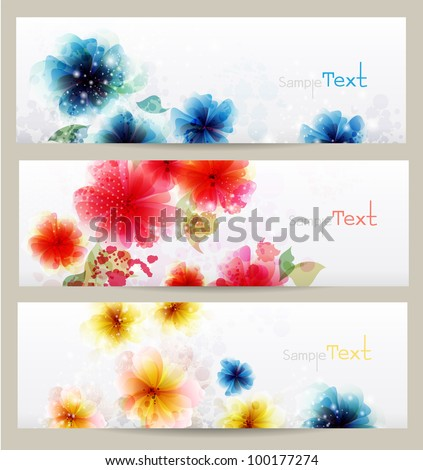 Flower brochure vector designs.