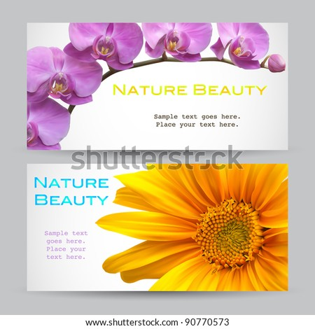 Flower brochure vector designs