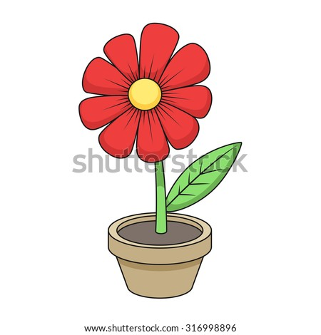Flower cartoon vector illustration
