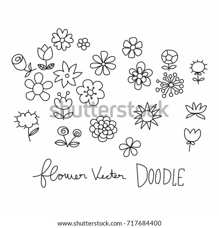 Flower cartoon vector illustration doodle style