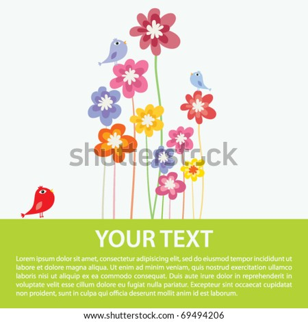 Flower colorful background