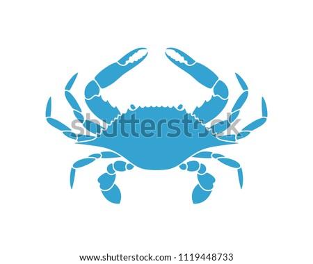 Flower Crab. Blue Swimmer Crab. EPS 10. Vector illustration