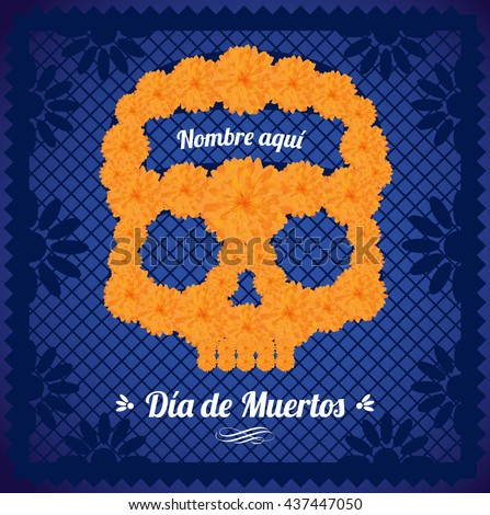 flower day of the dead skull