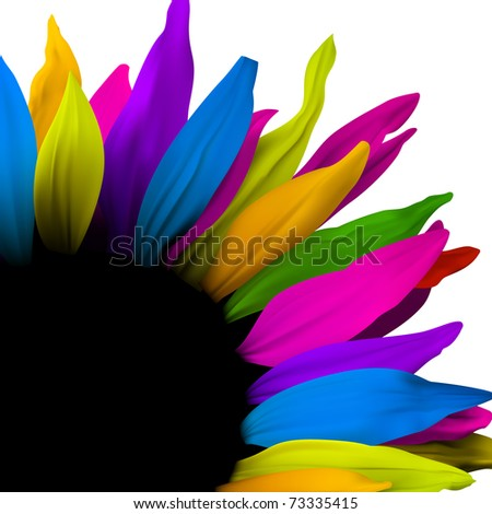 Flower decoration element, vector poster design - stock vector