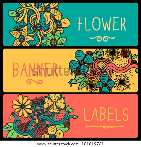 Flower Doodle Banners
