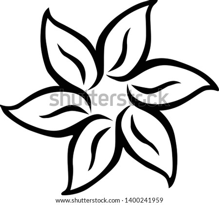 flower drawing,flower drawing vector, simple flower drawing