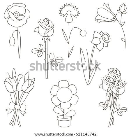 flower elements set  collection