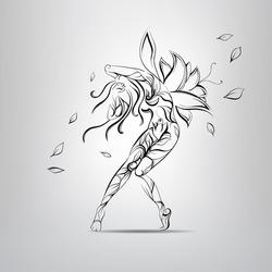 Flower Fairy. vector illustration