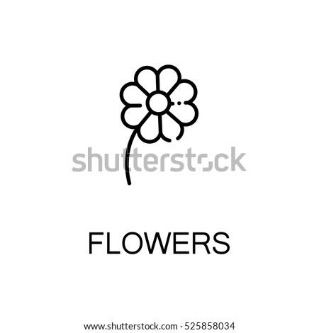 flower flat icon. single high...