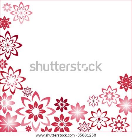 Flower Picture Frames on Flower Frame Stock Vector 35881258   Shutterstock