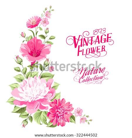 flower garland for invitation
