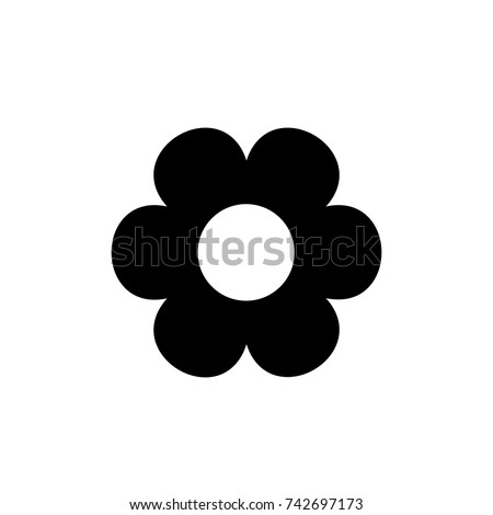 Flower icon., Flower icon vector, in trendy flat style isolated on white background. Flower icon image, Flower icon illustration #742697173
