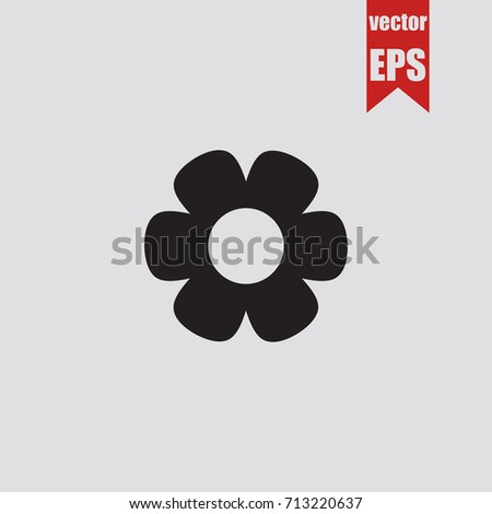 Flower icon in trendy isolated on grey background.Vector illustration.