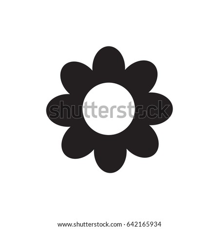 Flower icon. Isolated. Flat design. Vector illustration.
