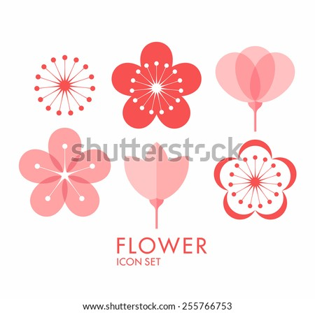 flower icon set sakura