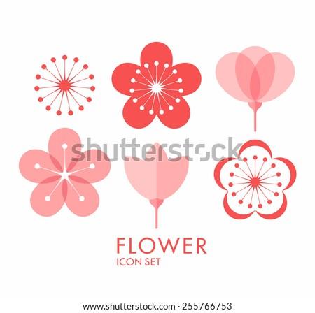 flower icon set sakura