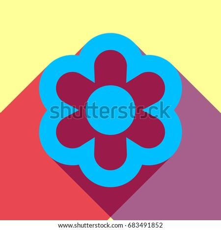 flower icon vector deep sky