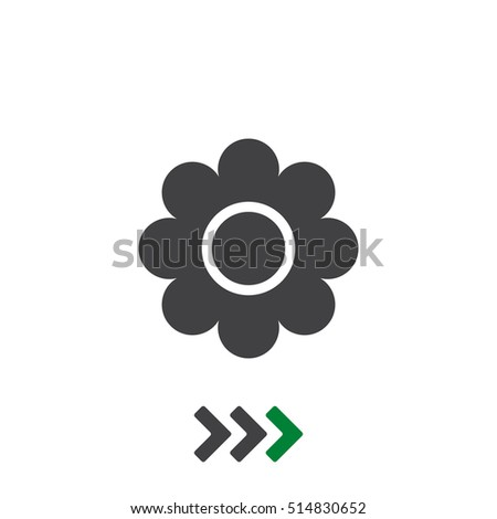 Flower Icon Vector flat design style