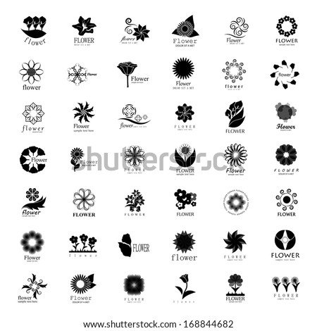 Flower Icons Set - Isolated On White Background - Vector Illustration, Graphic Design Editable For Your Design.