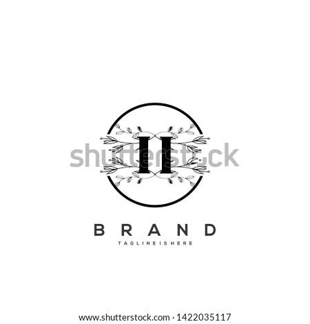 flower initial letter ii logo
