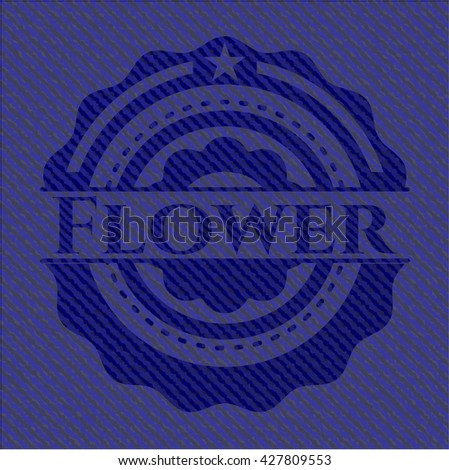 Flower jean background