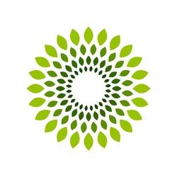 Flower Leafs Circle Symbol Logo Design