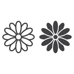 Flower line and glyph icon, easter and holiday, nature sign vector graphics, a linear pattern on a white background, eps 10.