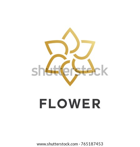 flower line style logo