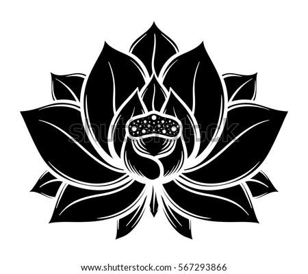 Flower vector free lotus flower from vecteezy flower lotus black and white isolated on white background vector illustration mightylinksfo