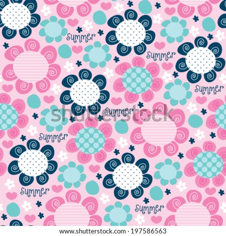 flower love pattern vector illustration