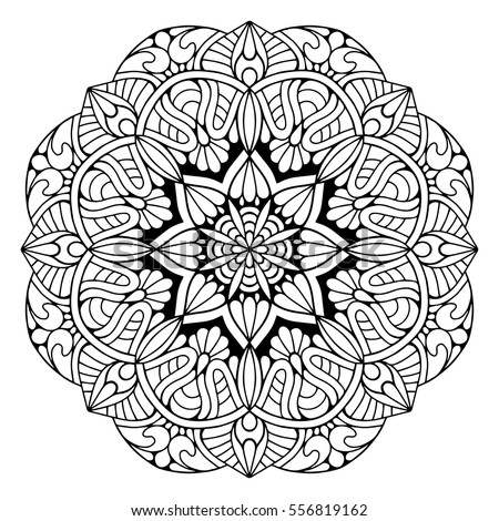 Vector Images, Illustrations and Cliparts: Flower Mandalas. Vintage ...