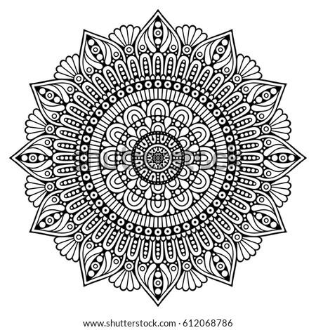 Flower Mandalas. Vintage decorative elements. Oriental pattern, vector illustration. Islam, Arabic, Indian, turkish, pakistan, chinese, mystic, ottoman motifs