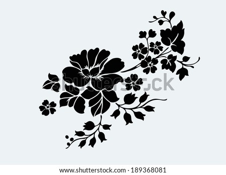 Flower motif for design