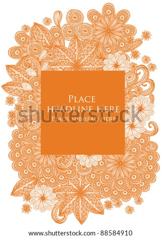 flower motif template vector/illustration