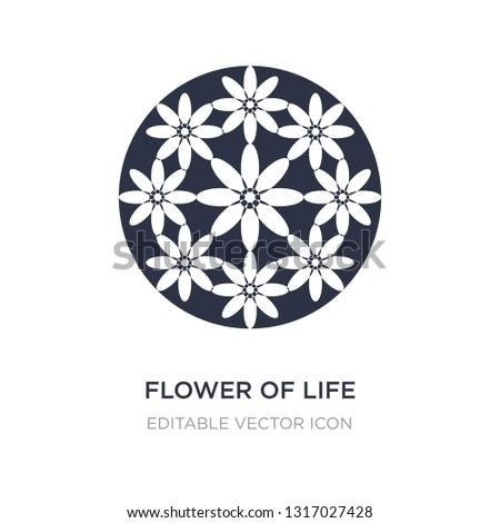 flower of life icon on white background. Simple element illustration from Shapes concept. flower of life icon symbol design.