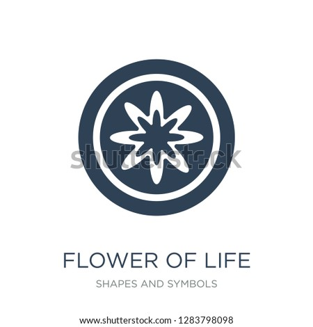 flower of life icon vector on white background, flower of life trendy filled icons from Shapes and symbols collection, flower of life vector illustration