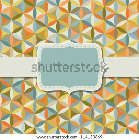 Flower of life pattern in vintage colors with frame